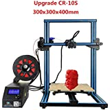 Luxnwatts 2018 Creality CR-10 CR-10S 3D Printer Filament Monitor with Dual Z Axis Large Printing Size 300x300x400mm 10PCS MK8 Nozzle 0.4mm Gift