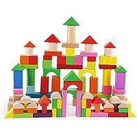 QXMEI 子供向けおもちゃ 子供向け積み木 100ピース組立ブロック 子供向け教育玩具 啓発玩具 ステッチ玩具 製品サイズ: 13.6インチ 9.3インチ