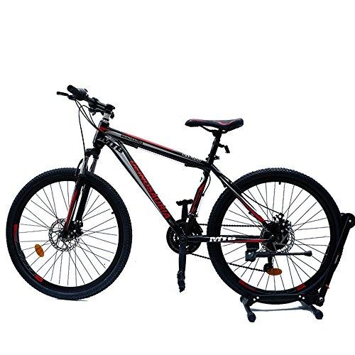 GOWAY(ゴーウェイ)マウンテンバイク 自転車 26インチ シマノ純正21段変速 Wディスクブレーキ (ブラック・レッド)