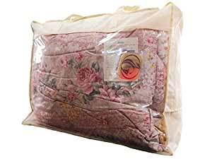 羽毛布団 国産 シングル ピンク 柄おまかせ ニューゴールドラベル90% 1.2kg 綿15% 150×210 パワーアップ加工 羽毛掛け布団 布団 ふとん CH914SP