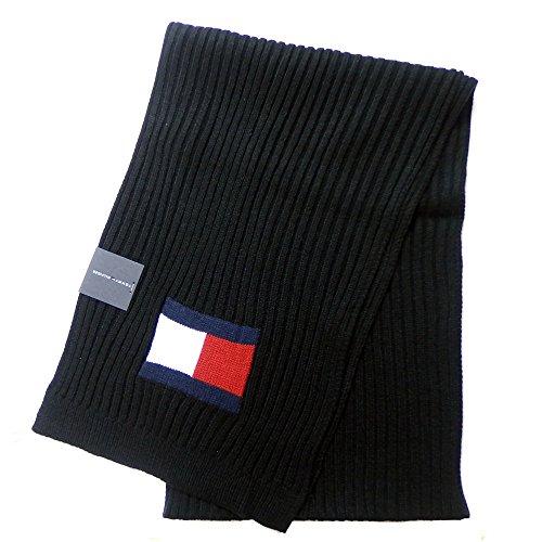 トミーヒルフィガー TOMMY HILFIGER マフラー Knit Logo Scarf H8C73220 (ブラック) [並行輸入品]