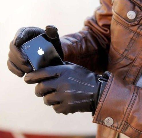 [TARO WORKS] シープスキン 液晶タッチ 防寒「羊皮」手袋 iPhone5 スマホ 対応 手袋 スマートフォン タッチパネル対応 グローブ ブラック