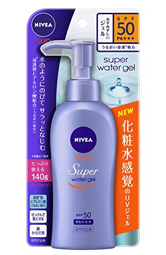 Best-Selling skin care cosmetics in Japan niva asan protected water gel spf 50 / pa +++ pump 140 g
