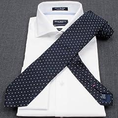 Hackett Silk Small Dot Tie: Navy
