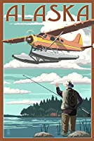アラスカ – Float平面とFisherman 12 x 18 Art Print LANT-68711-12x18