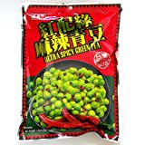 台湾のスナック菓子 盛香珍 麻辣青豆(グリーンピース辛口味) 220g 個包装タイプ