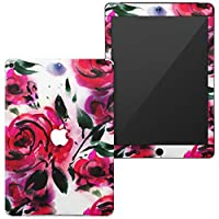 igsticker 第6世代 第5世代 iPad 9.7インチ iPad 6 / 5 2018/2017年 モデル A1893 A1954 A1822 A1823 スキンシール apple アップル アイパッド タブレット tablet シール ステッカー ケース 保護シール 背面 011132 花 バラ ピンク