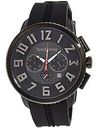 [テンデンス]Tendence 腕時計 GULLIVER 47 ブラック文字盤 ステンレス/ポリカーボネイト クロノグラフ デイト TY460014  【正規輸入品】