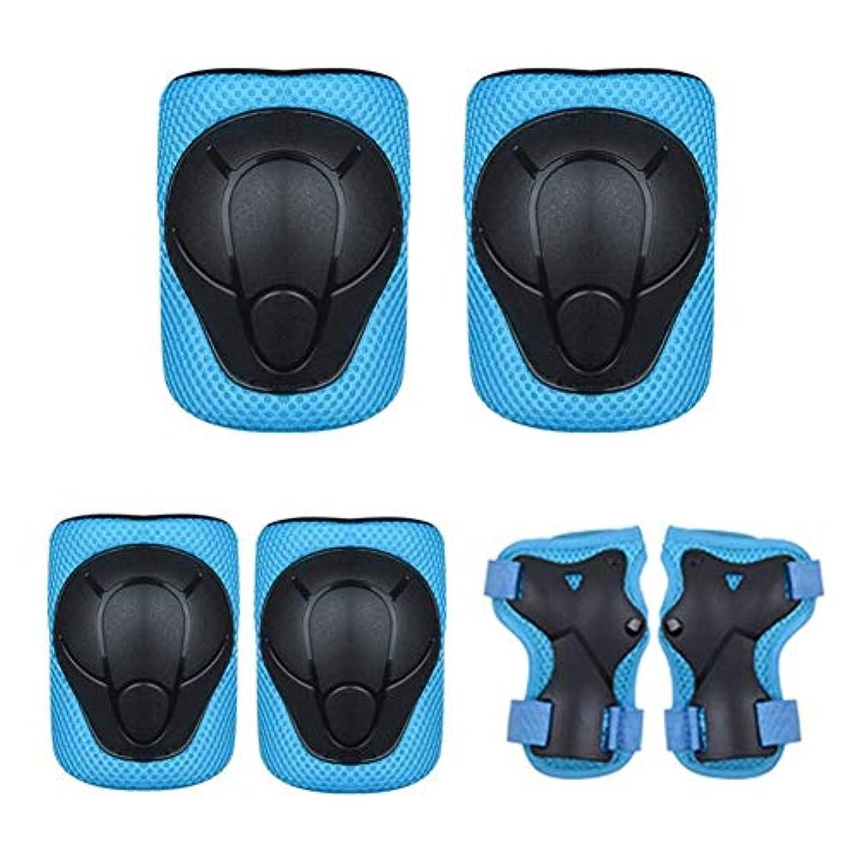 マージアクションお父さん子供用保護具 - 6 In 1大人用ティーンキッズ肘パッド手首ガード用スケートボード乗馬サイクリングスクーターローラーブレードローラースケート