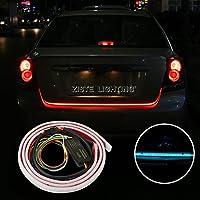 ZISTE 最新型 LEDテープライト テールゲート バックドア テープライト 流れるウインカー ・ テールランプ ・ ブレーキランプ・ハザードランプ 12V車用 5W 120cm 1本 2色 汎用 防水処理済み 一年保証付き