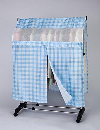 ストレージスタイル ハンガーラック カバー チェック柄 ハンガーラックの衣類をホコリから守ります 快適生活