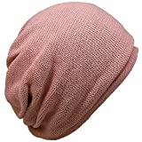 (ディグズハット)DIGZHAT サマーコットン ニット帽 オールシーズン 薄手 サイズ展開 メンズ レディース (L, コーラルピンク)