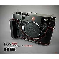 【日本正規販売店】 LIM'S Italian Genuine Leather Metal grip Half Case Special Edition for Leica M10 LC-M10SEBK Black ブラック ライカ M10用 イタリアンレザー カメラケース メタルグリップ プレート 高級 高品質 本革 おしゃれ かっこいい リムズ(Special Edition Black)