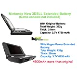Mugen Power Nintendo New 3DS LL/XLは、6250mAhのトリプルパワーにアップグレード可能で、拡張バッテリ交換ツールと新しい拡張オリジナルルックバックカバー(ゲームとコンソールは含まれません)オリジナルホワイトボディカラー