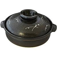 萬古焼 土鍋 7号 (2-3人用) 黒釉むさし野 15848