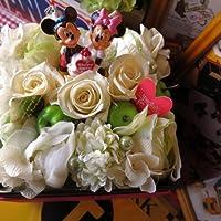 誕生日プレゼント ディズニー フラワーギフト 花 バースデー ミッキー ミニー A プリザーブドフラワーフレンチbox入り ホワイト系