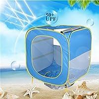 赤ちゃんのビーチテント、ポップアップ幼児のためのポータブルシェードプールUV保護サンシェルター0歳以上の赤ちゃんに適して