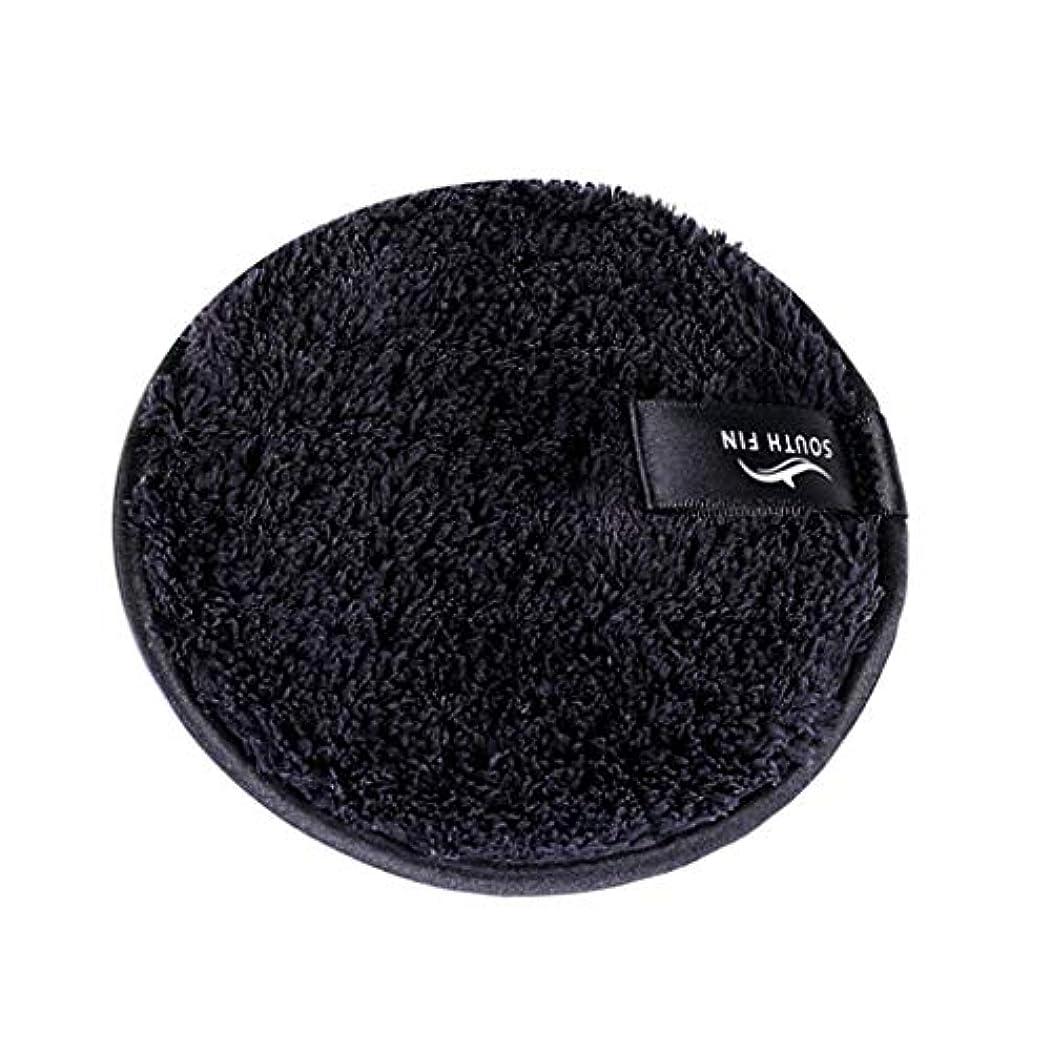 D DOLITY メイクリムーバー スポンジ パッド クレンジングパフ 洗顔 スキンケア 3色選べ - ブラック