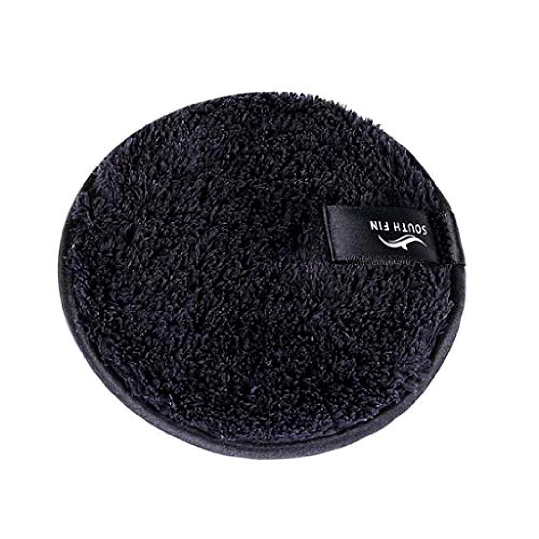 コンベンション頭同一性メイクリムーバー スポンジ パッド クレンジングパフ 洗顔 スキンケア 3色選べ - ブラック