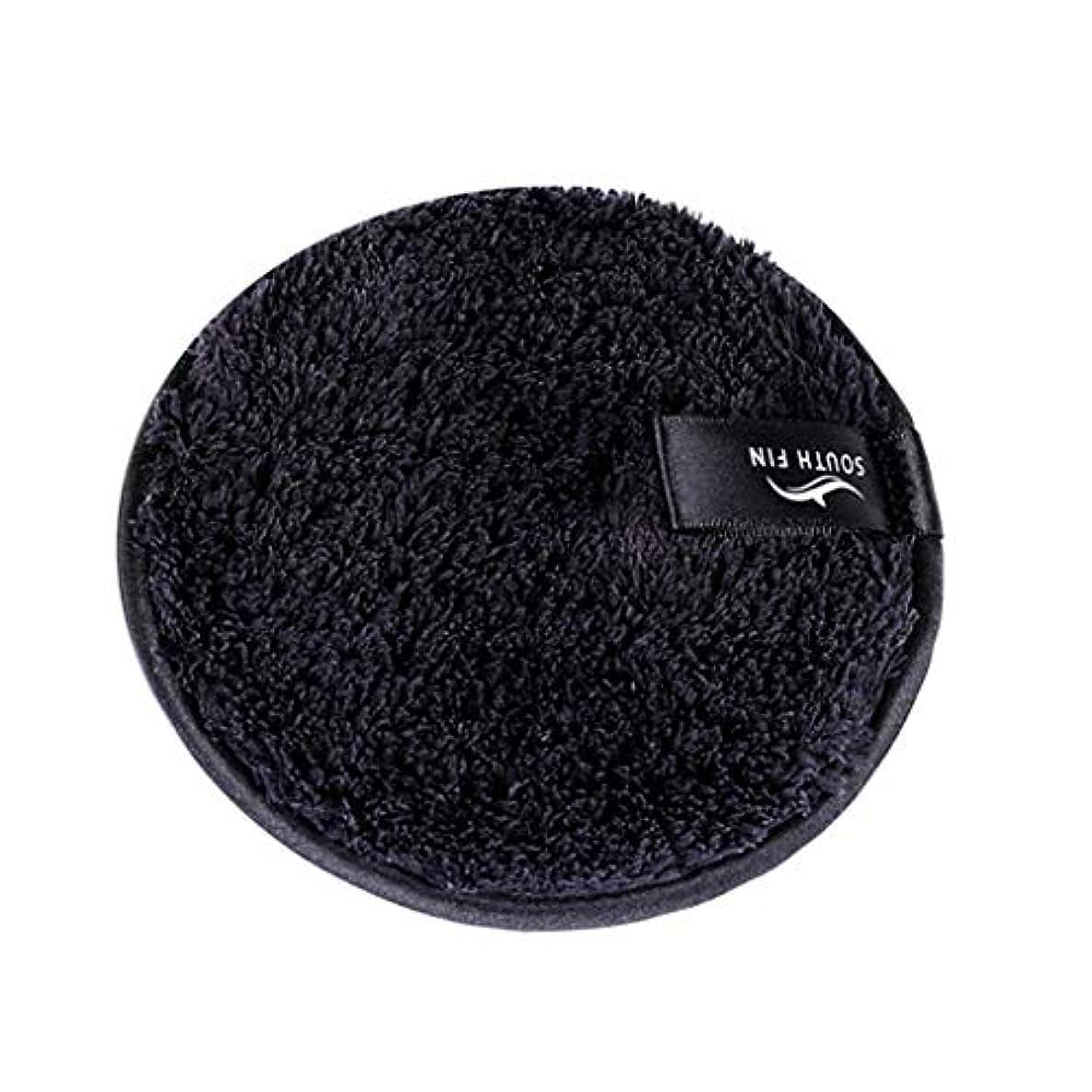 メイクリムーバー スポンジ パッド クレンジングパフ 洗顔 スキンケア 3色選べ - ブラック