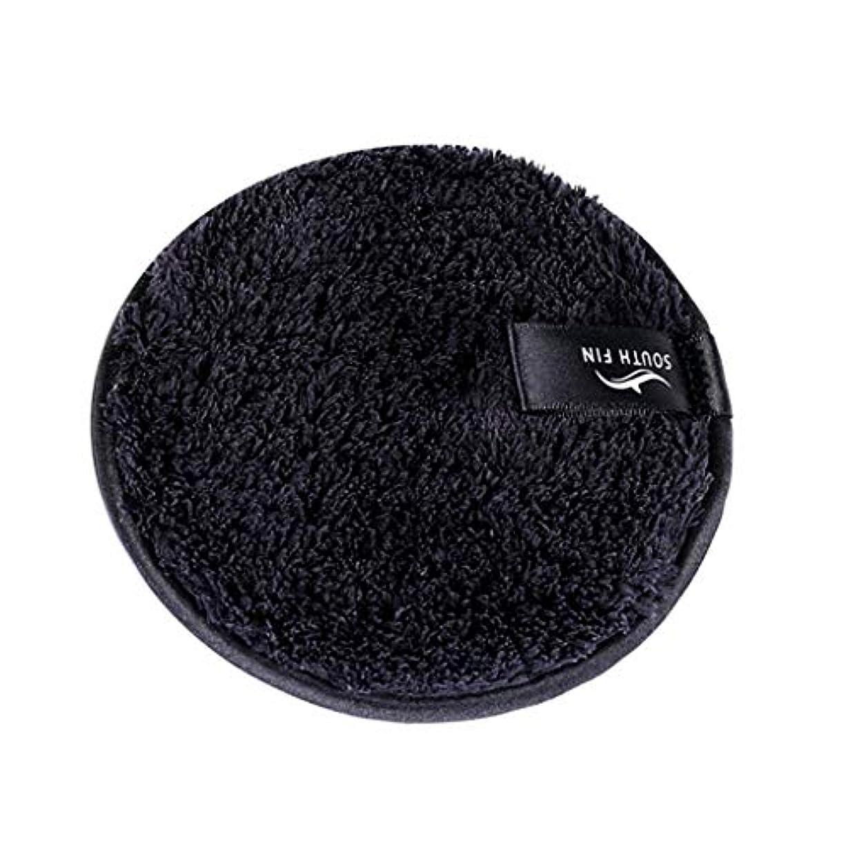 インシデントフリルとげのあるD DOLITY メイクリムーバー スポンジ パッド クレンジングパフ 洗顔 スキンケア 3色選べ - ブラック
