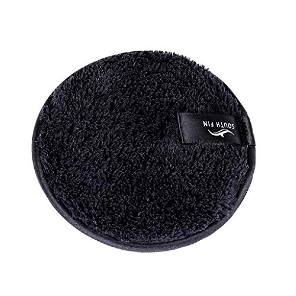 貼り直す論争的渦D DOLITY メイクリムーバー スポンジ パッド クレンジングパフ 洗顔 スキンケア 3色選べ - ブラック
