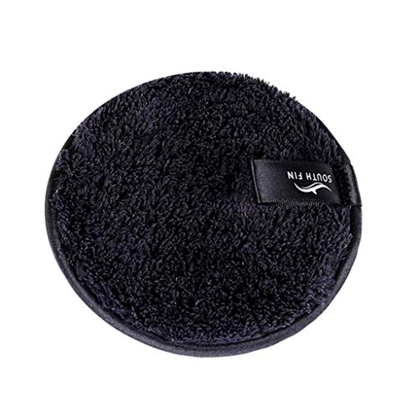ループまたはどちらか運賃メイクリムーバー スポンジ パッド クレンジングパフ 洗顔 スキンケア 3色選べ - ブラック