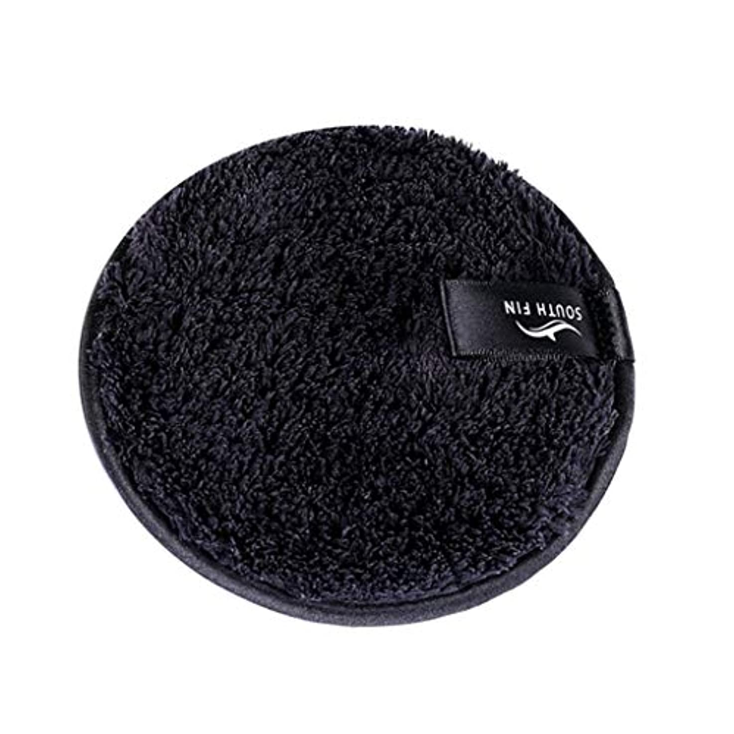 累計徴収歴史的メイクリムーバー スポンジ パッド クレンジングパフ 洗顔 スキンケア 3色選べ - ブラック