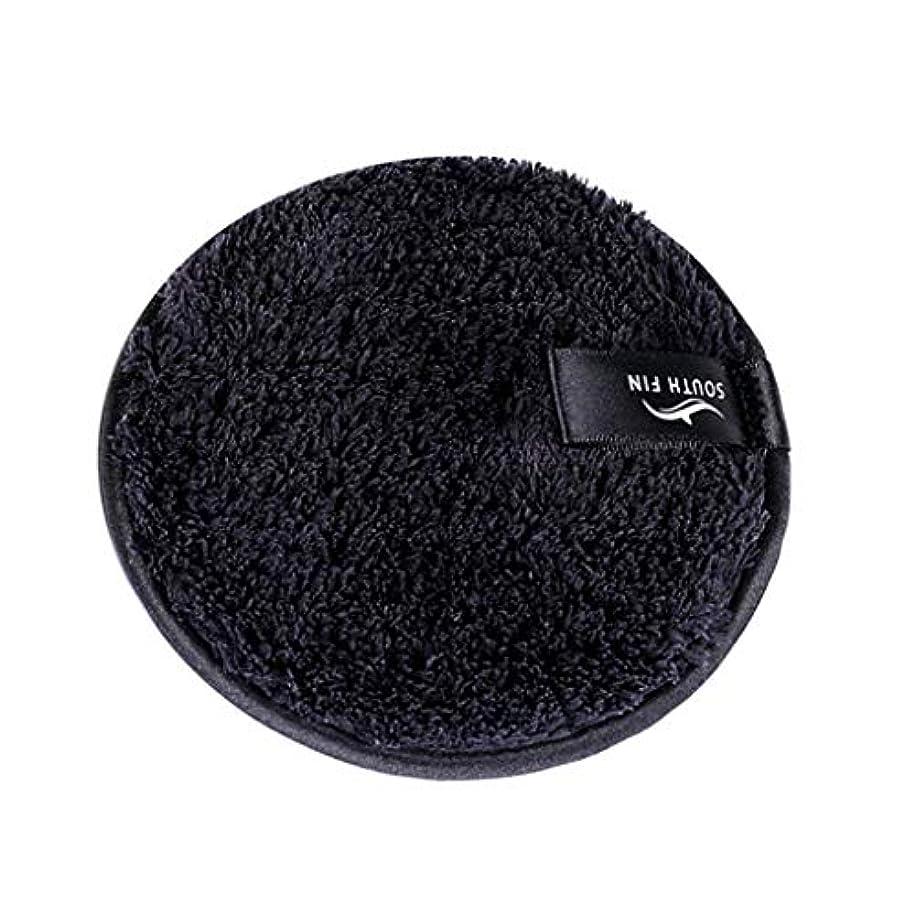 くしゃくしゃモロニック地下鉄D DOLITY メイクリムーバー スポンジ パッド クレンジングパフ 洗顔 スキンケア 3色選べ - ブラック