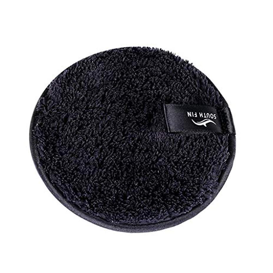 反発する面倒農夫メイクリムーバー スポンジ パッド クレンジングパフ 洗顔 スキンケア 3色選べ - ブラック