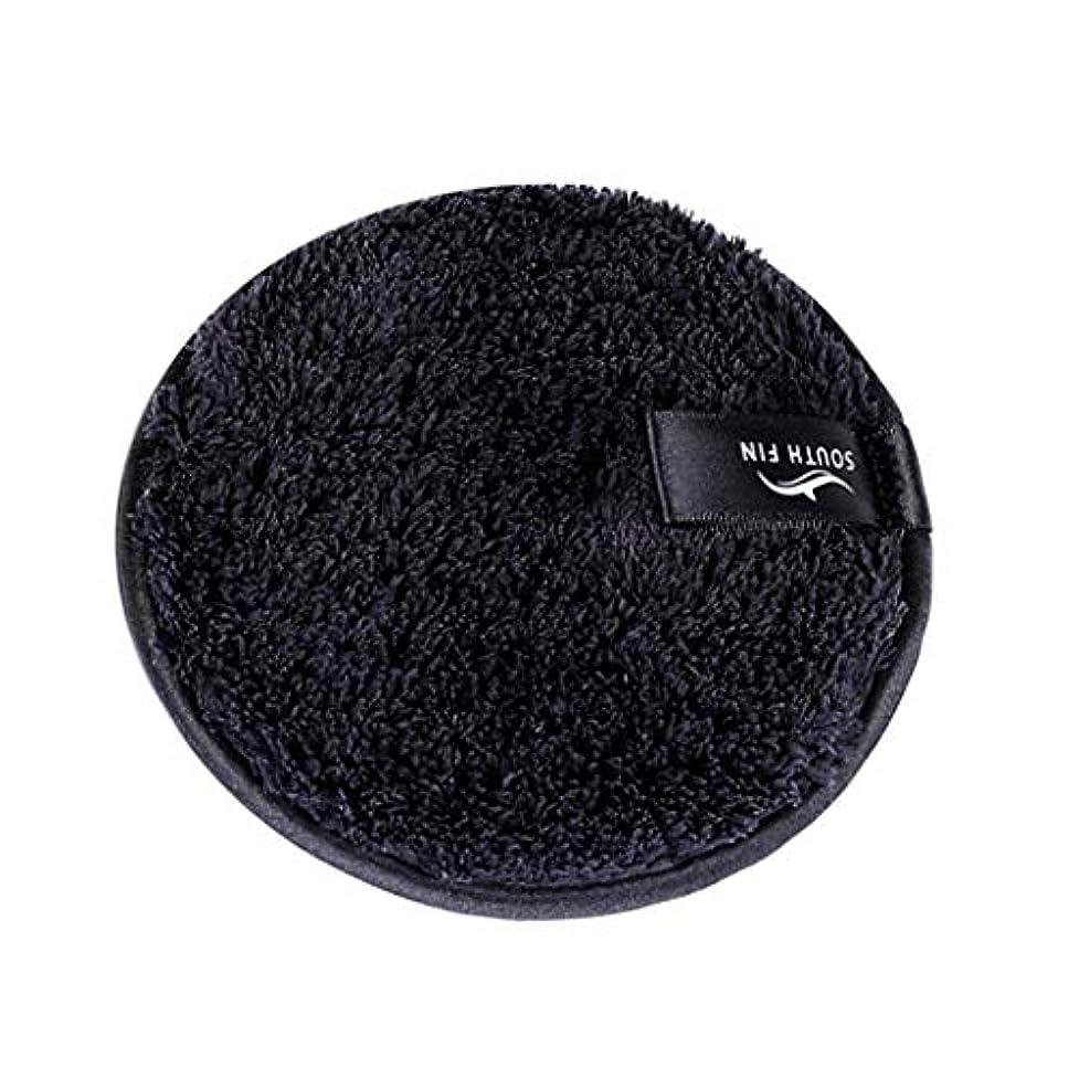 効率的ワイヤー名門D DOLITY メイクリムーバー スポンジ パッド クレンジングパフ 洗顔 スキンケア 3色選べ - ブラック