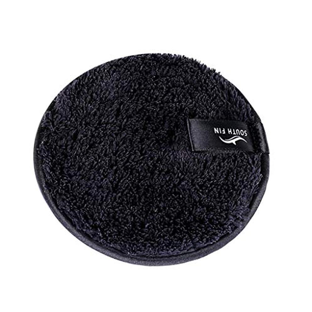 累積つぶす実験D DOLITY メイクリムーバー スポンジ パッド クレンジングパフ 洗顔 スキンケア 3色選べ - ブラック