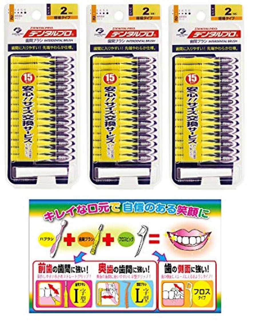 【Amazon.co.jp限定】DP歯間ブラシ15P サイズ2 3P+リーフレット