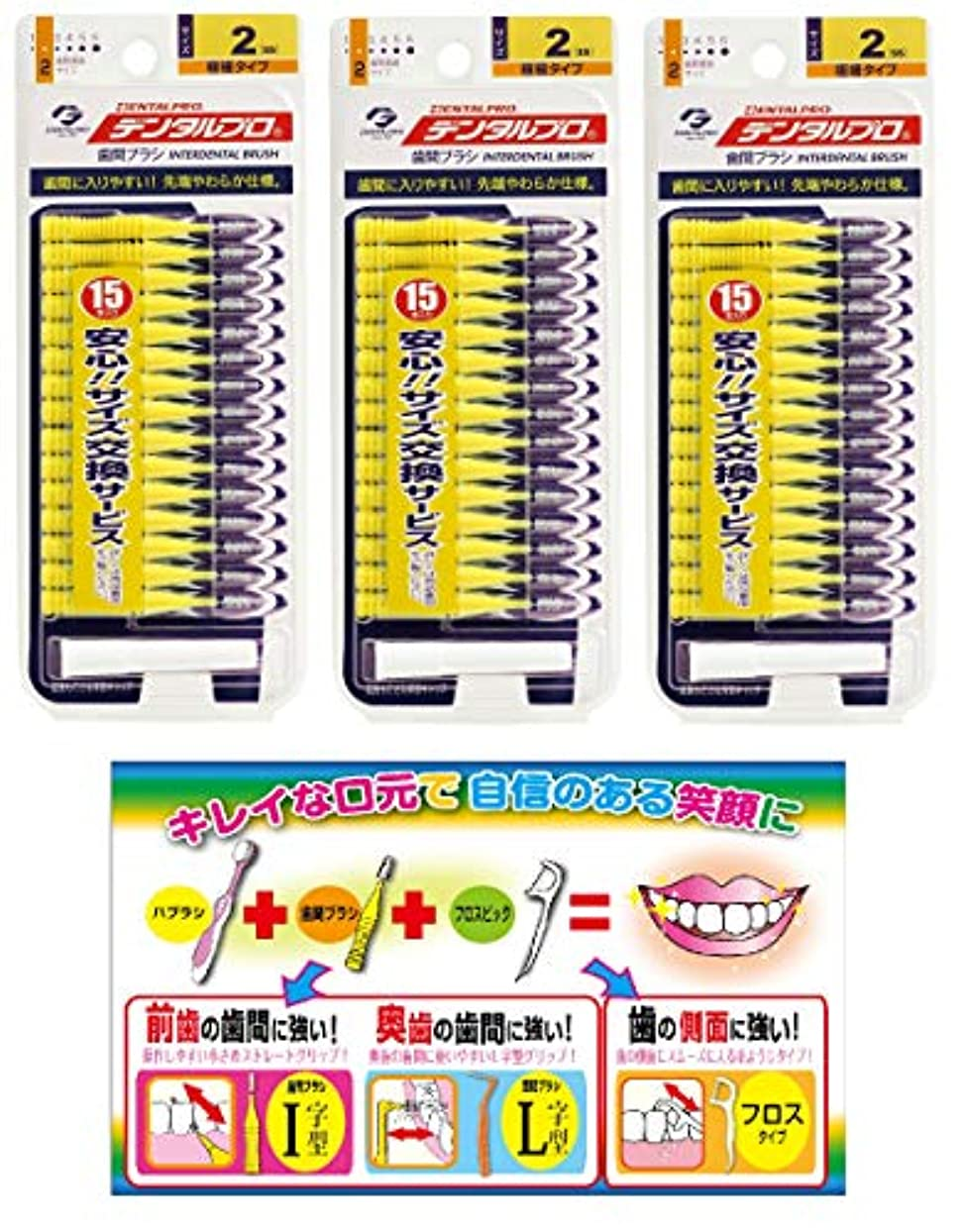 磁気重くするエトナ山【Amazon.co.jp限定】DP歯間ブラシ15P サイズ2 3P+リーフレット
