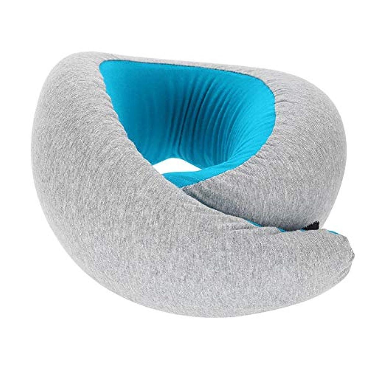 餌代わりの事務所旅行ネックピロー、スーパーソフトメモリフォーム U字型ネックピロー 快適な伸縮性 ファブリックカバー付き 旅行枕 ネックサポート