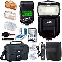 Canonスピードライト430ex iii-rt Flash with Canonスピードライトケース+ Canonショルダーバッグ+ユニバーサルタイマーリモート+ 4高容量充電式単三電池&充電器+アクセサリバンドル
