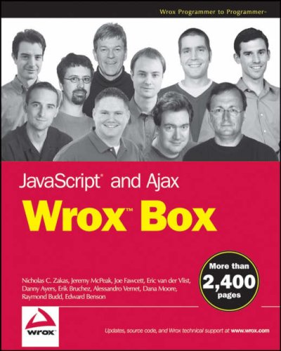 JavaScript and Ajax Wrox Box: Professional JavaScript for Web Developers, Professional Ajax, Pro Web 2.0, Pro Rich Internet Applicationsの詳細を見る