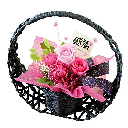 花由 和風 プリザーブドフラワー 花宵月 ピンク-感謝