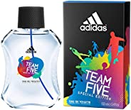 Adidas Team Five  100ml Eau De Toilette, 0.5 Kilograms