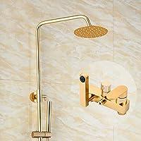 シャワーミキサーシャワーセットハンドヘルドシャワーホルダーラウンドトップスプレーシャワーヘッドシャワーミキサータップ