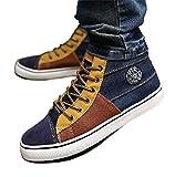 (プチプライム) Petit Prime スニーカー ハイカット メンズ カジュアル きれいめ 大人 靴 5色展開 オシャレ 大きいサイズ (28.0cm (EU 46), オレンジ×ネイビー)