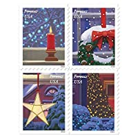 USPS Holiday Windows Forever 切手セット Book of 20 1 Pack