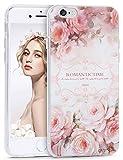 Imikoko iPhone6ケース iPhone6s ケース アイホン6 ケース スマホケース case 保護カバー 花柄 おしゃれ 人気 かわいい ソフト 女子 携帯  (iPhone6/6s 4.7, コウシンバラ)