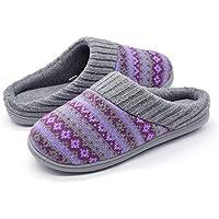 RockDove Womens Fair Isle Sweater Knit Slipper