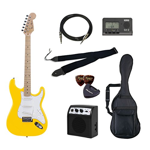 VALUE Photo Genic ST-180M/YW エレキギター初心者向け豪華8点バリュー ST180 ビギナー向け/ストラトキャスタータイプ 4534853030809