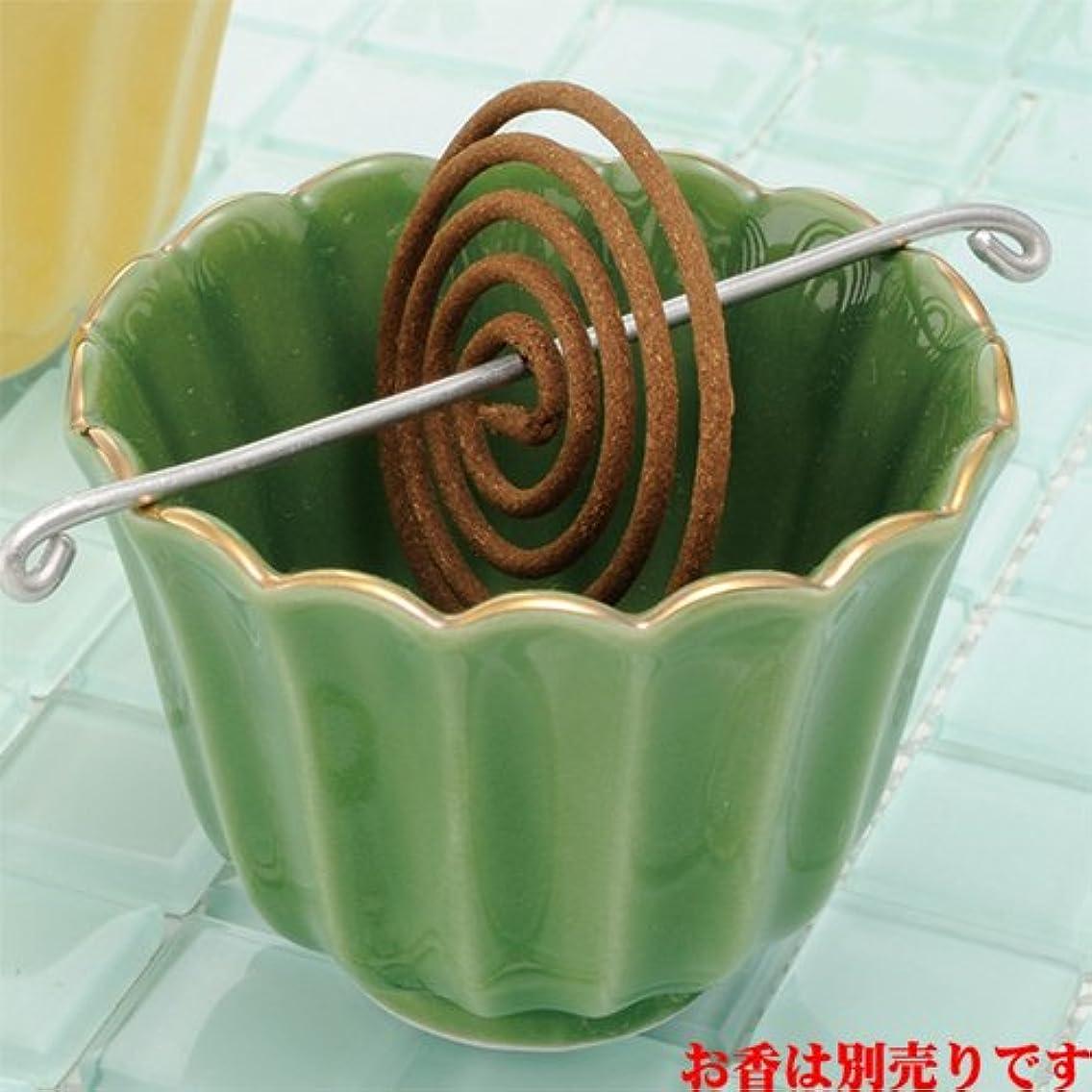 香皿 菊型 香鉢(織部) [R8xH6.3cm] プレゼント ギフト 和食器 かわいい インテリア
