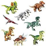 OUYOU ジュラシック 恐竜 フィギュア 組立て 互換有り 関節可動 手足可動 口開閉可 8体セット