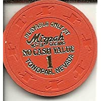Mizpah no cash value Tonopah Nevada Rare Obsoleteカジノチップ