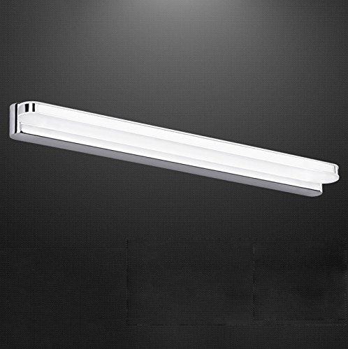 主導の浴室浴室現代のシンプルな壁ランプミラーステンレススチール防水霧メイクアップ照明 ( サイズ さいず : Length: 88 CM )