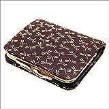 印傳屋 印伝 がま口 レディース ( 女性用 ) 本革 二つ折り  財布 札入れ 1605 日本製 和風 和柄 通販 ギフトに